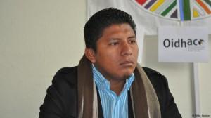 Francisco Javier Cortes Guanga, representante de productores agrícolas.