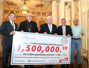 iglesia catolica recive 1,500.000